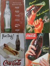 NEW Vintage Style Tin Metal Signs - Coca Cola Advertisment Reproductions Coke