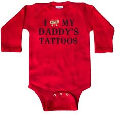 Inktastic I Love My Daddy's Tattoos Long Sleeve Creeper Daddy Father Tattoo Baby