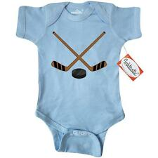 Inktastic Sports Hockey Sticks Infant Creeper Player Stick Puck Game Baby Gift