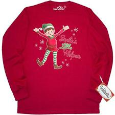 Inktastic Santas Little Helper Elf Long Sleeve T-Shirt Christmas Santa Red Green
