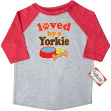 Inktastic Yorkie Dog Lover Yorkshire Terrier Toddler T-Shirt Loved By Cute Dogs