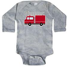 Inktastic Red Firefighter Fire Truck Long Sleeve Creeper Baby Firetruck Fighter