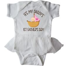 Inktastic 1st Fathers Day Baby Girl Infant Tutu Bodysuit Babys First Girls Cute