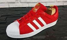 BNWB Rare & GENUINE Adidas Originals Superstar RED Weave Trainers Multiple Sizes