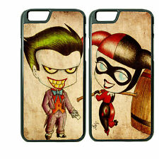 Chibi Joker and Harley Custom Couple Phone Case Cover iPhone 6Plus 6S 5 5s 4 4s