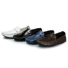 Men's Casual Driving Moccasins Leather Loafers Boat Shoes Slip On Comfort Flats