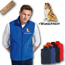Fleece vest Fleece Vest Embroidered Embroidery Dog Collie + Name