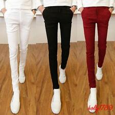 Mens Casual Slim Fit Skinny Korean Fashion Pants Cotton Blend Trousers#SIZE