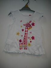 BNWT Nutmeg Girls Pretty Giraffe T-Shirt/Top.   Age 12 Months - 5 Years