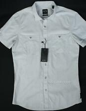 Armani Exchange A|X Mens End On End Weave Double Pocket Fitted Casual Shirt NWT