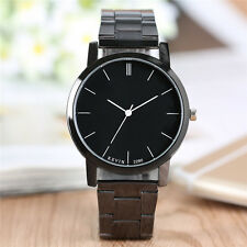 KEVIN Simple Stainless Steel Band Men Women Quartz Wrist Watch Bracelet Clasp
