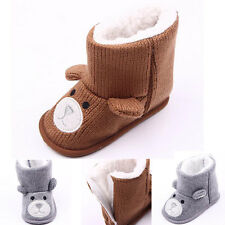 HOT Baby Toddler Infant Girl Snow Boots Soft Sole baby Crib Shoes 0-12 Months