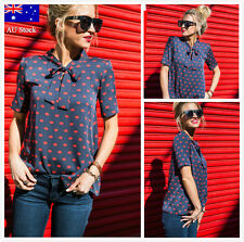 AU Fashion Women Ladies Summer Loose Top Short Sleeve Blouse Casual Tops T-Shirt
