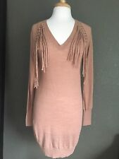 Rebecca Taylor Sweater Dress Fringes