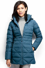 NWT Lands End Womens Chalet 600 Fill Down Parka Coat Hood Black,Blue M,L,XL $179