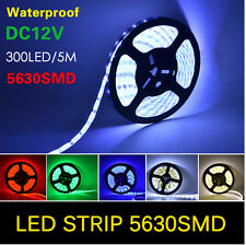 5M 5630SMD 300 LEDS Flexible Light Strip Decoration Waterproof Lamp for Home Car