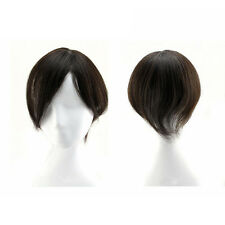 40g 100% Virgin Human Hair Toupe Top Piece Bangs Fringe Clip In Hair Extension