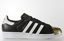 adidas Originals Women SUPERSTAR 80S SHOES, BLACK/WHITE/GOLD- Size US 8, 9 Or 10