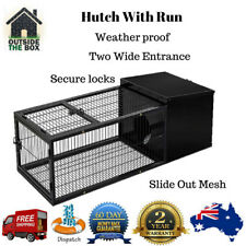 Metal Rabbit Guinea Pig House Cage Hutch Run New Pet Pen Animal with Tray 120cm