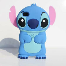 Cartoon 3D Movable Ear Blue Stitch Soft Silicone Case Cover For Various Phones