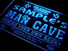 Custom man cave neon LED sign personalized name football decor