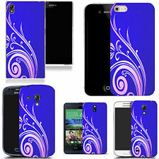 hard back case cover for many mobiles - blue swirling tweed