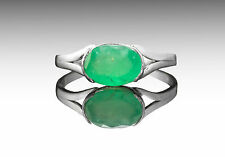925 Sterling Silver Ring with Oval Green Emerald Natural Gemstone Handmade eBay.