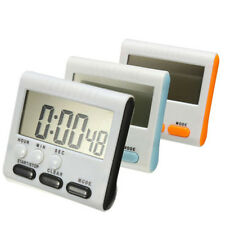 Portable LCD Digital Kitchen Timer Count Up Down Egg Cooking Alarm 24 Hours