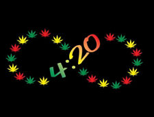 420 Infinity Smoke Weed Marijuana Pot Leaf Kush Lovers Chronic Funny T-Shirt Tee