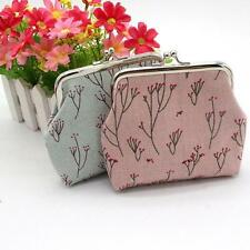 Retro Vintage Style Coin Purse With Flower Print