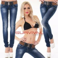 Womens Soft Stretch Skinny Jeans NEW Designer Blue Low Rise Size 8 10 12 14