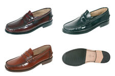 Mens Loafers Shoes Leather Made in Spain Brown Oxblood Black URBAN JUNGLES