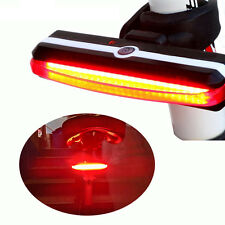 COB USB Rechargeable LED Bicycle Bike Cycling Front Rear Tail Light 6 Modes Lamp
