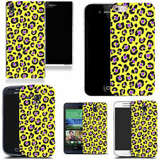 hard slim case cover for many mobiles - animal yellow print