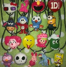 Girls Boys Kids Necklace Character, Piglet, Minion, Lalaloopsy, Elmo, Hootabelle