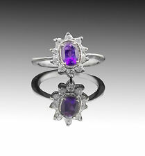 925 Sterling Silver Ring with Natural Purple Amethyst Gemstone Handcrafted eBay.