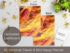 Golden Lights - Laminated Dashboard - Happy Planner, Mini HP, A5, Personal