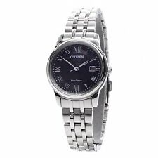 Citizen ECO-DRIVE Ladies Analog Watch Casual Silver Band EW2310-59E EW2310-59A