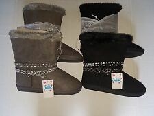 Justice Girls Boots Gray or Black Sizes 3 or 7 NWT