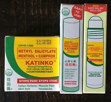 Katinko Liniment Oil~Stick~Ointment Rub Headache Muscle Pain Itch Insect Bites