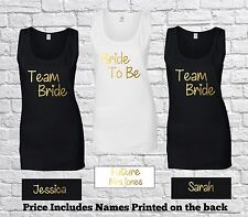 Personalised Team Bride To Be Ladies Tank Top Vest Bridal Hen Party T Shirt