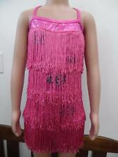 Dance Costume Large Child Or Small Adult Pink Fringe Clogging DUET Competition