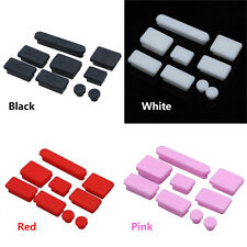 9 Pieces Silicone Data Plug Port Anti-Dust Plug for Notebook Apple Macbook Pro