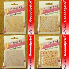 3D Nail Art Seal Beautiful Flowers Nail/Toe Stickers Pack Party & Ladies 01-2124