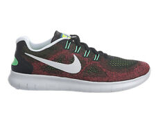 NEW MENS NIKE FREE RN (RUN) 2017 RUNNING SHOES TRAINERS BLACK / HOT PUNCH / CHLO