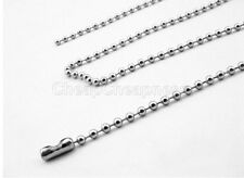 Fashion Military Mens Necklace Ball Bead Chain Link For Dog Tag & Pendant l4C