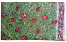 3 To 10 Yard Hand Crafted Flower Print Running Pure Cotton Fabric Dress Material