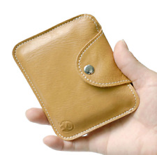 Real Leather Men Women Credit Card Case ID Cash Holder Small Thin Wallet Casual