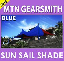 New Deluxe Sun Sail Shade Canopy Top Cover Color Blue Rectangle Square