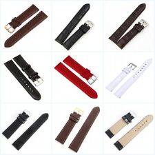 12-24mm Solid Color Vintage Leather Replacement Wrist Watch Band Strap Belt